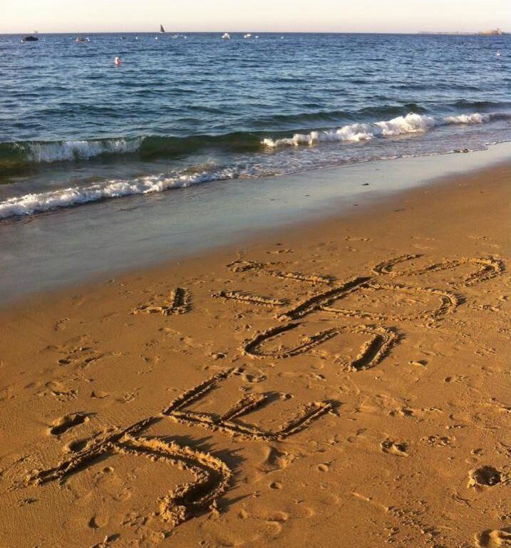 page prier sur le sable