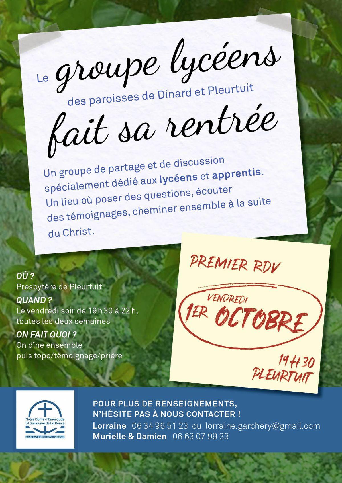 page PG Lycéens